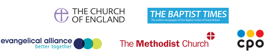 Logos - Church of England, UCB, Baptist Times, EA, Methodist Church